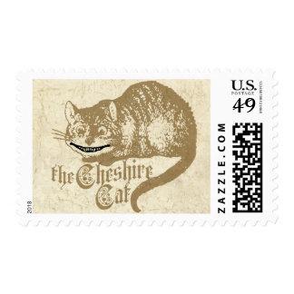 Vintage Cheshire Cat Illustration Postage