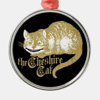 Vintage Cheshire Cat Metal Ornament
