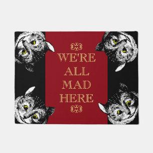 Vintage Cheshire Cat Weu0027re All Mad Here Art Doormat