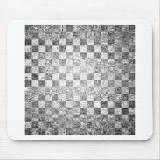 Vintage chessboard texture mouse pad