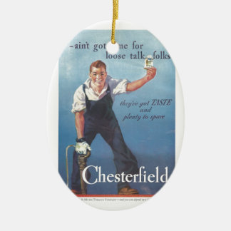 Vintage Chesterfield Cigarette Advertising 1936 Ceramic Ornament