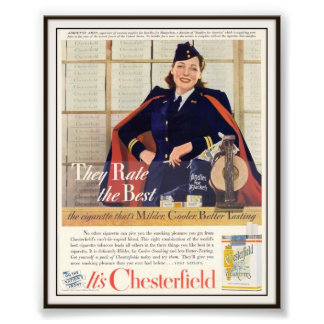 Vintage Chesterfield Cigarette Advertising 1942 Photo Art