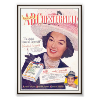 Vintage Chesterfield Cigarette Advertising 1948 Photograph