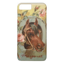 Vintage Chestnut Horse Personalized iPhone 8 Plus/7 Plus Case