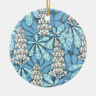 Vintage Chestnut Tree Ceramic Ornament
