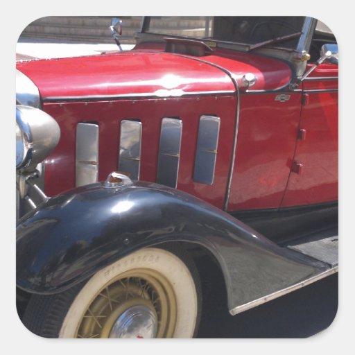 Vintage Chevrolet.jpg Pegatina Cuadradas