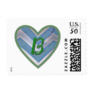 Vintage chevron B stamp