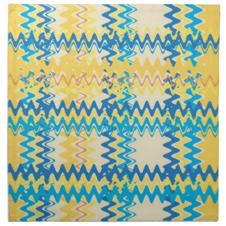 Vintage Chevron Striped Retro Abstract Art Napkin