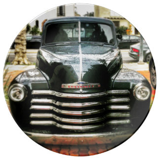 Vintage Chevy Truck porcelain plate