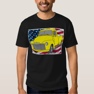 Vintage Chevy Truck with American Flag T-Shirt