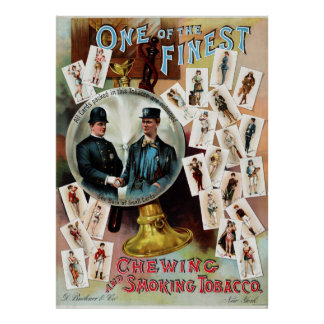 Vintage Chewing and Smoking Tobacco Advertisement Poster
