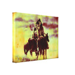 Vintage Cheyenne Warriors Wrapped Canvas Print