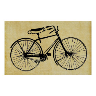 Vintage Chic Bicycle Cycling Wall Art