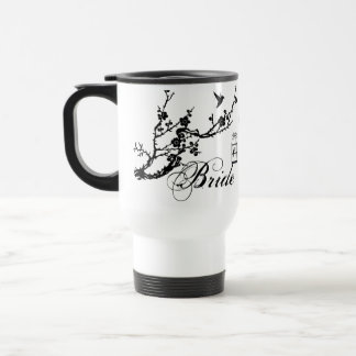Vintage chic branch and birds birdcage BRIDE mug