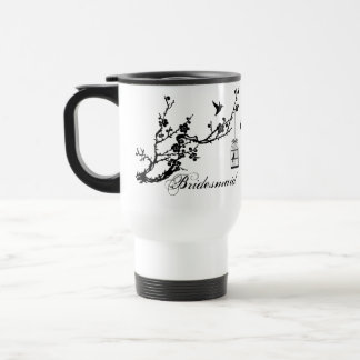 Vintage chic branch and birds birdcage BRIDESMAID Travel Mug