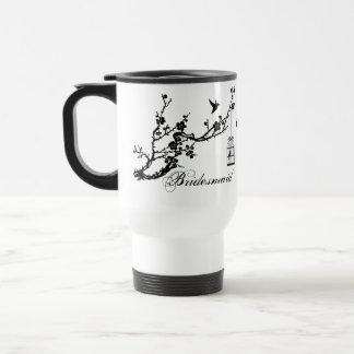 Vintage chic branch and birds birdcage BRIDESMAID Travel Mug