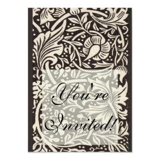 Vintage chic daffodil art nouveau design 4.5x6.25 paper invitation card