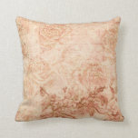 Vintage Chic Engraved Floral Pillow
