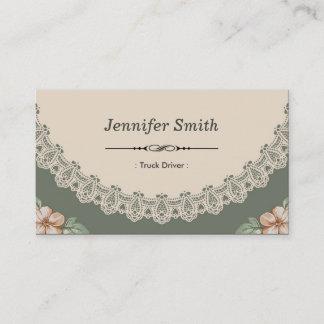 Vintage Chic Floral Business Card