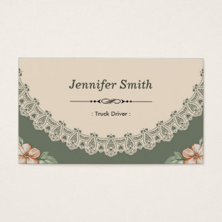 Vintage Chic Floral Business Card