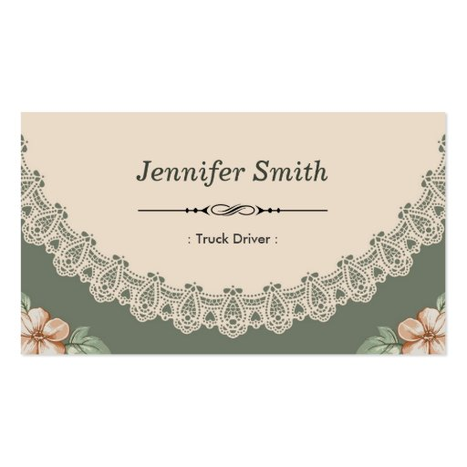 Vintage Chic Floral Business Card Template