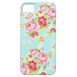 Vintage chic floral roses blue rose flowers shabby iPhone 5 covers