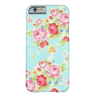 Vintage chic floral roses blue rose flowers shabby barely there iPhone 6 case