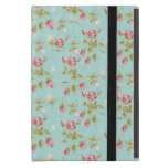 Vintage chic floral roses blue shabby rose flowers case for iPad mini