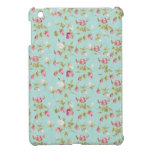 Vintage chic floral roses blue shabby rose flowers iPad mini covers