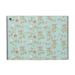 Vintage chic floral roses blue shabby rose flowers iPad mini case