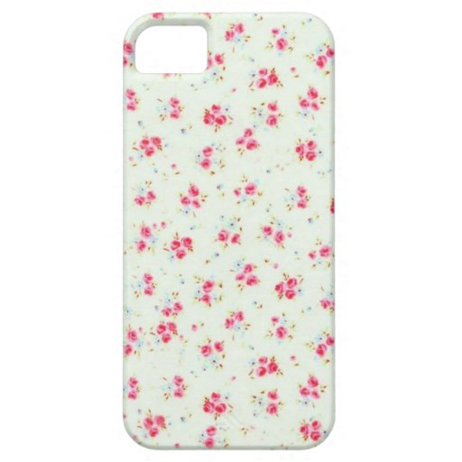 Vintage chic floral roses pink shabby rose flowers iPhone 5 case