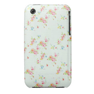 Vintage chic floral roses pink shabby rose flowers iPhone 3 case