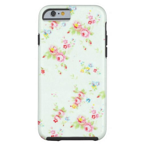 Vintage chic floral roses pink shabby rose flowers iPhone 6 case