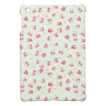 Vintage chic floral roses pink shabby rose flowers iPad mini case