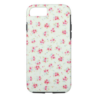 Vintage chic floral roses pink shabby rose flowers iPhone 7 case