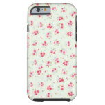 Vintage chic floral roses pink shabby rose flowers tough iPhone 6 case
