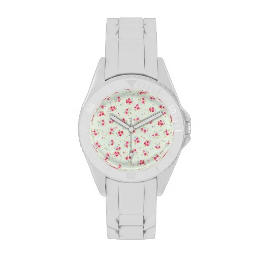 Vintage chic floral roses pink shabby rose flowers wristwatches