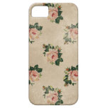 Vintage chic floral roses shabby boho rose flowers iPhone 5 cover