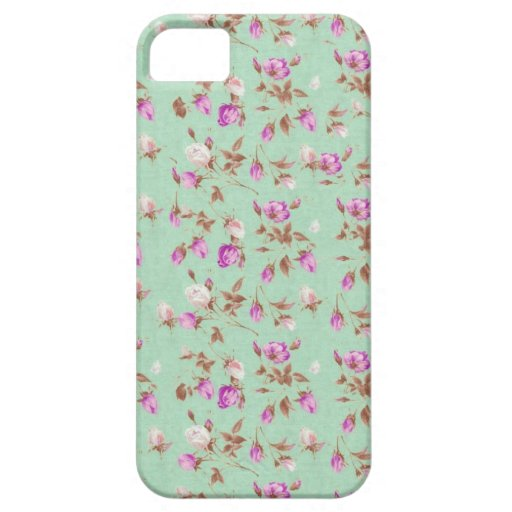 Vintage chic floral roses shabby rose flowers iPhone 5 cases