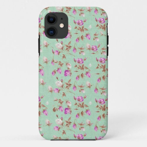 Vintage chic floral roses shabby rose flowers Phone Case