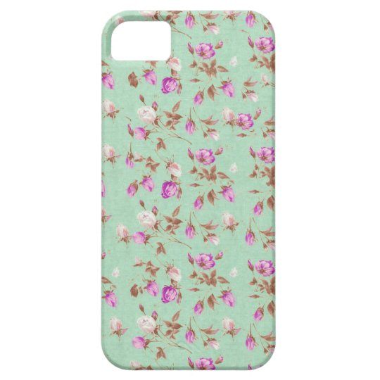 Vintage chic floral roses shabby rose flowers iPhone SE/5/5s case