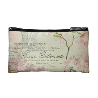Vintage Chic French Script Shabby Flowers Corset Cosmetics Bags