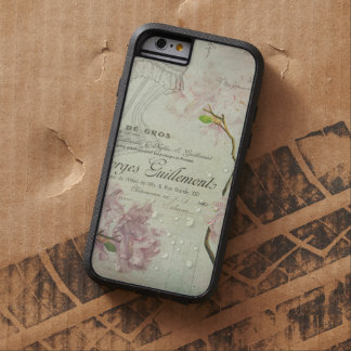 Vintage Chic French Script Shabby Flowers Corset Tough Xtreme iPhone 6 Case