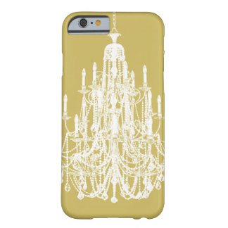 Vintage Chic Gold and White Chandelier Barely There iPhone 6 Case