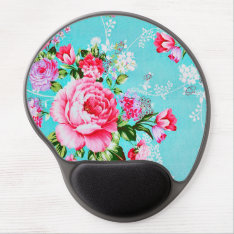 Vintage Chic Pink Floral Gel Mouse Pad at Zazzle