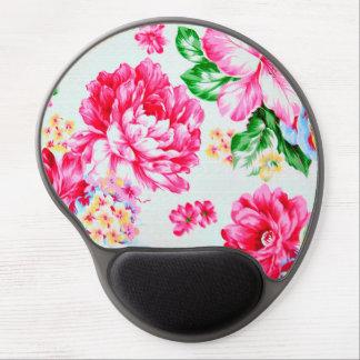 Vintage Chic Pink Flowers Floral Gel Mousepad