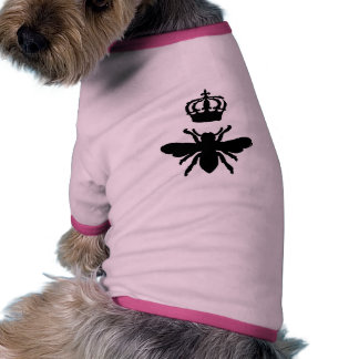 Vintage Chic Queen Bee Silhouette Dog T Shirt