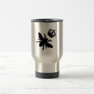 Vintage Chic Queen Bee Silhouette Travel Mug