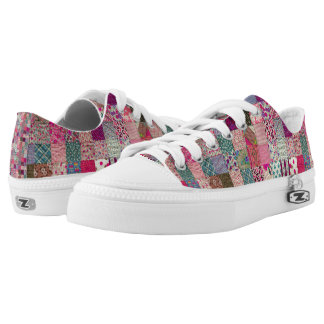 Vintage Chic Quilt  Low Toppers Low-Top Sneakers