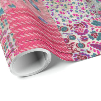 Vintage Chic Quilt Wrapping Paper